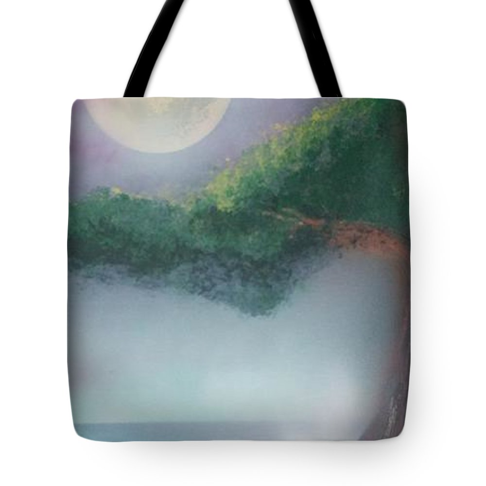 Landscape Tote Bag featuring the painting Mother Natures Face by James Bender
