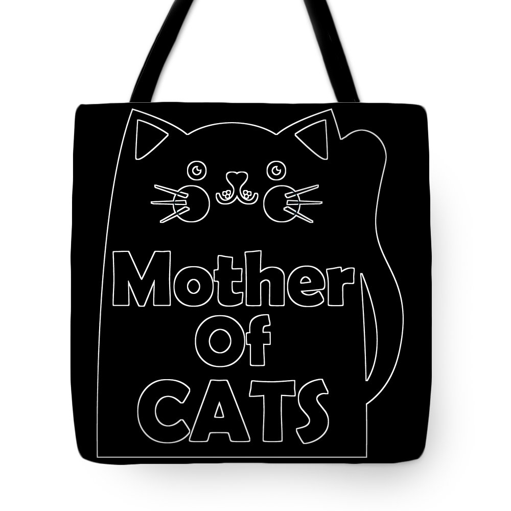 Cat Tote Bag featuring the digital art Mother Of Cats 2 by Kaylin Watchorn
