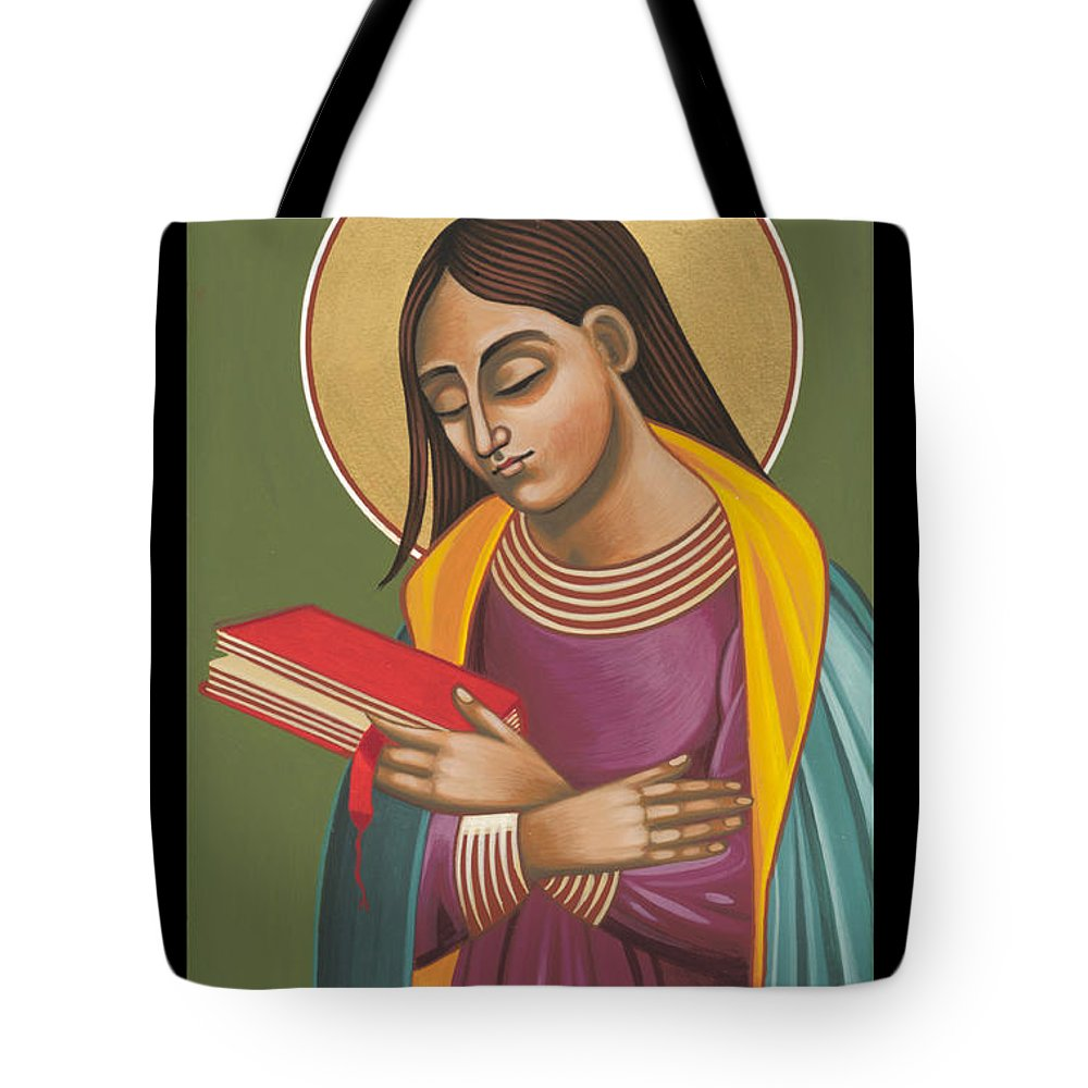 Tote Bag featuring the painting Mother Of God After Fra Angelico 168 by William Hart McNichols