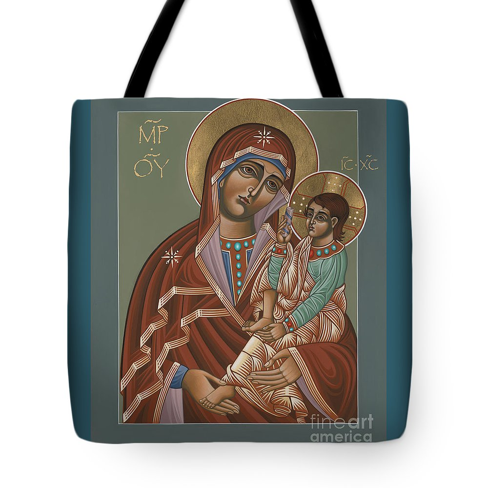 Mother Of God Of Shuya Tote Bag featuring the painting Mother Of God Of Shuya 178 by William Hart McNichols