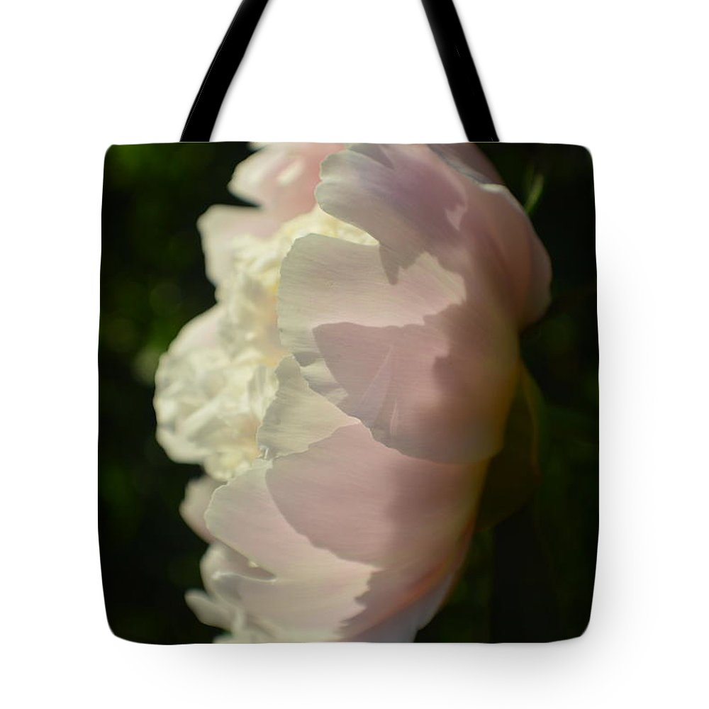 Flower Tote Bag featuring the photograph Mother Peony Full Bloom 2015 by Tina M Wenger