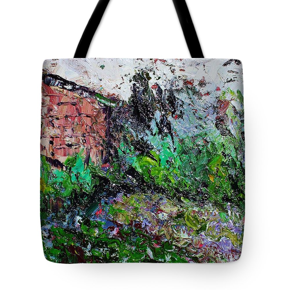 Garden Paintings Tote Bag featuring the painting Mother by Seon-Jeong Kim