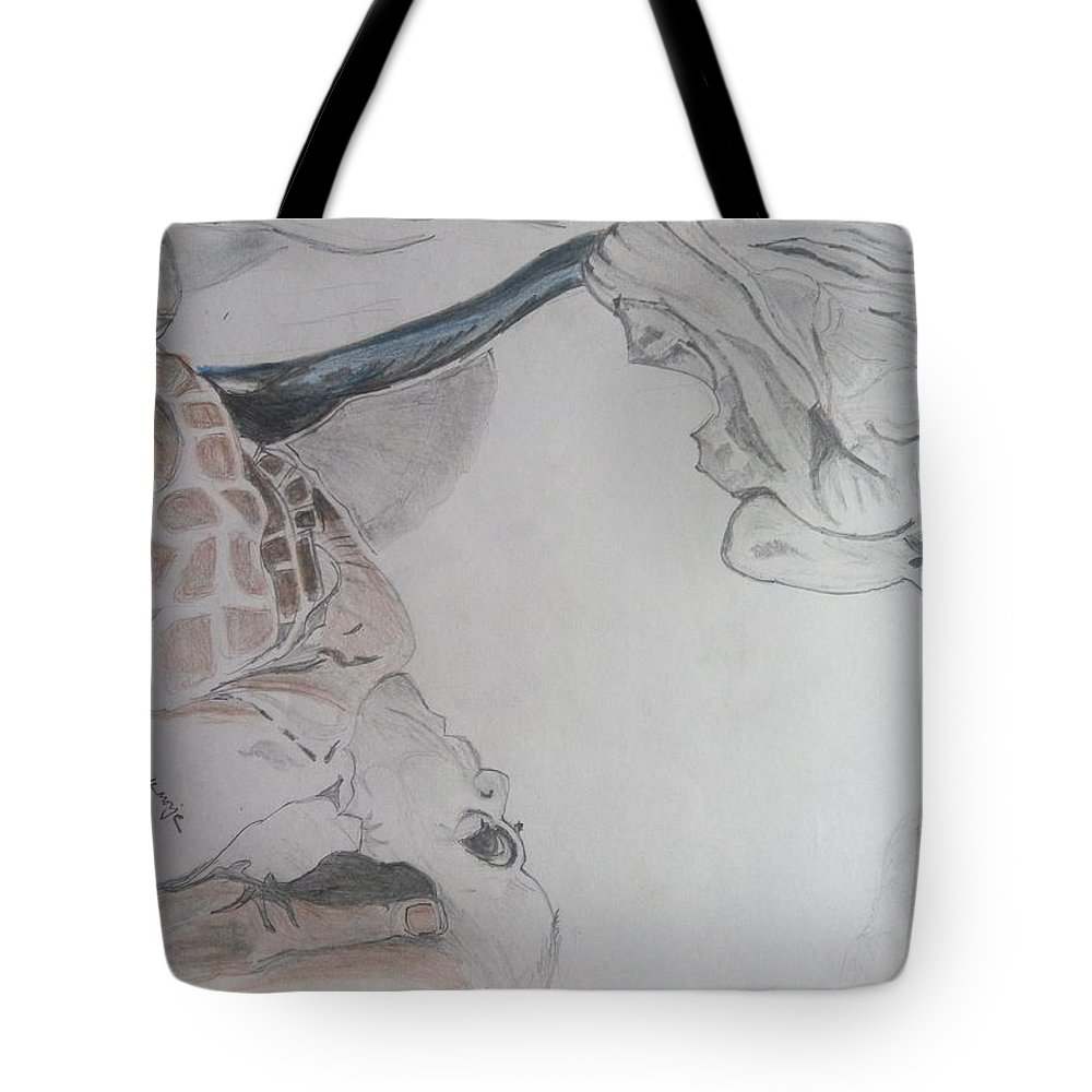Mother teresa pencil sketch tote bag for sale by shashank morje