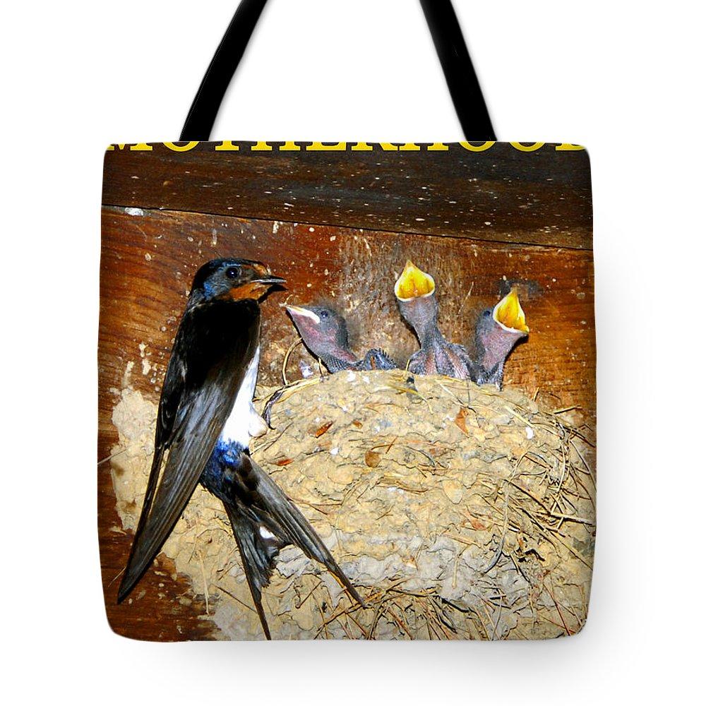 Motherhood Tote Bag featuring the photograph Motherhood Inspirational by David Lee Thompson