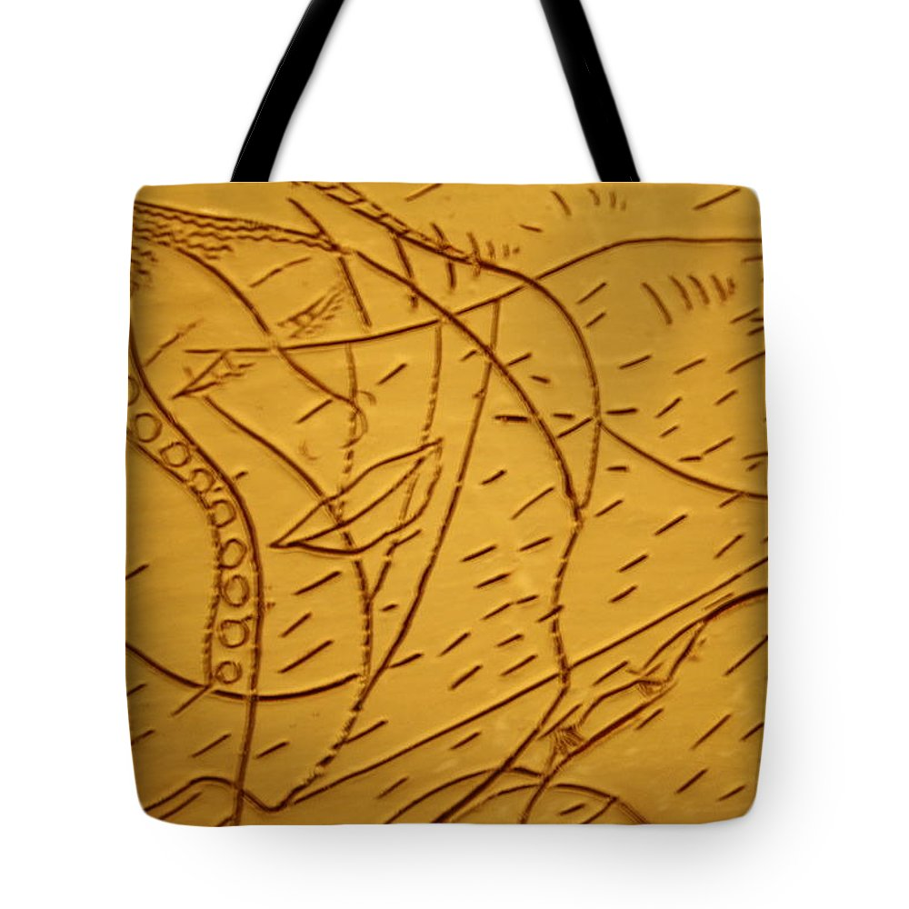 Jesus Tote Bag featuring the ceramic art Mothers Smile - Tile by Gloria Ssali