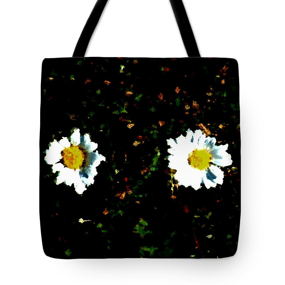 Minimalist Tote Bag featuring the painting Motif Noir No. 1 by RC DeWinter