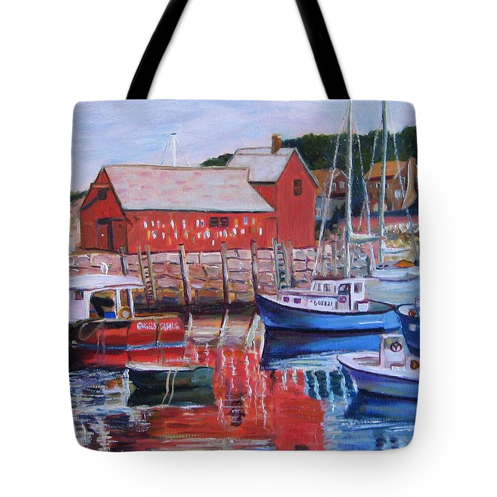 Rockport Tote Bag featuring the painting Motif Number One by Richard Nowak
