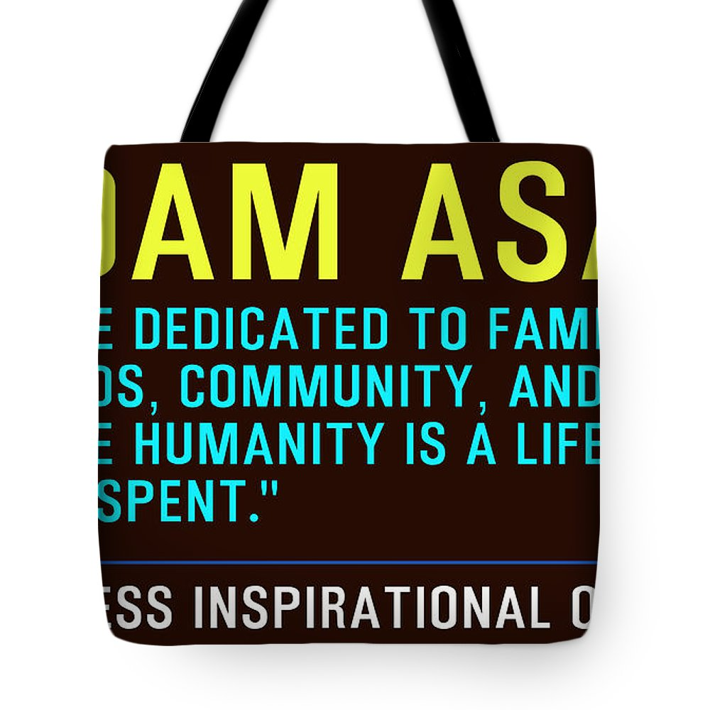 Motivational Quotes Tote Bag featuring the painting Motivational Quotes by Celestial Images