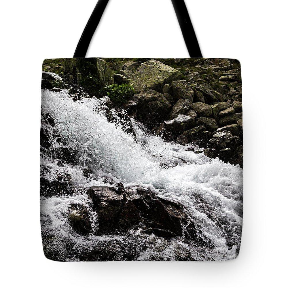 Stream Tote Bag featuring the photograph Mounain Stream by Sergej Juganov