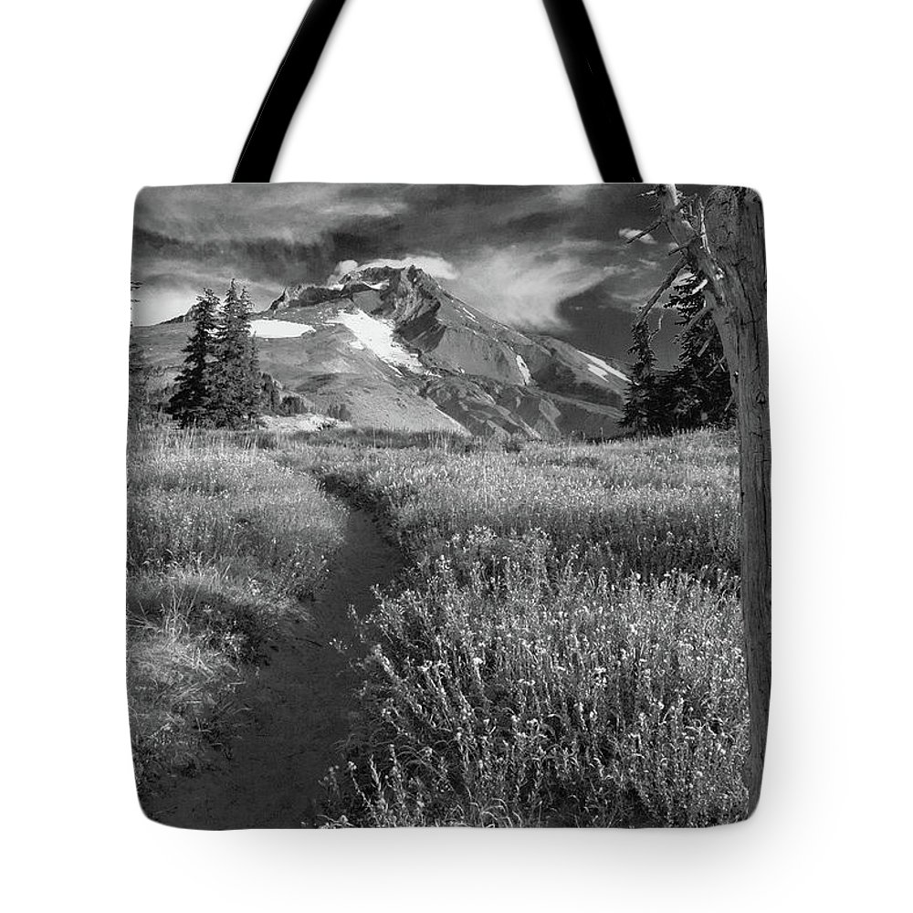 Mount Hood Tote Bag featuring the photograph Oregon's Mount Hood by Dan Bernard