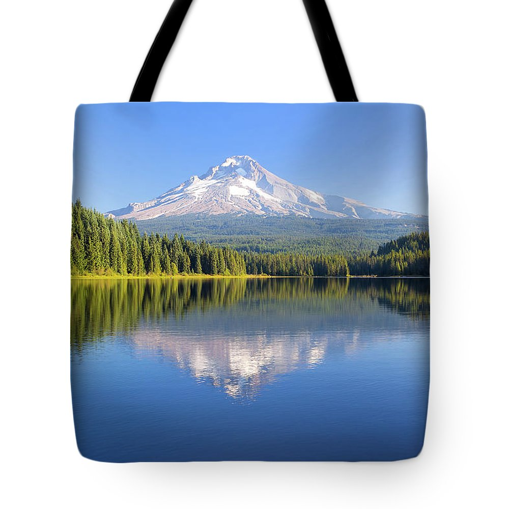 Mount Hood Tote Bag featuring the photograph Mount Hood On A Sunny Day by David Gn