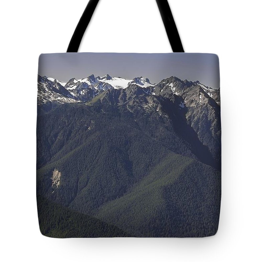 Mount Tote Bag featuring the photograph Mount Olympus Washington by NaturesPix
