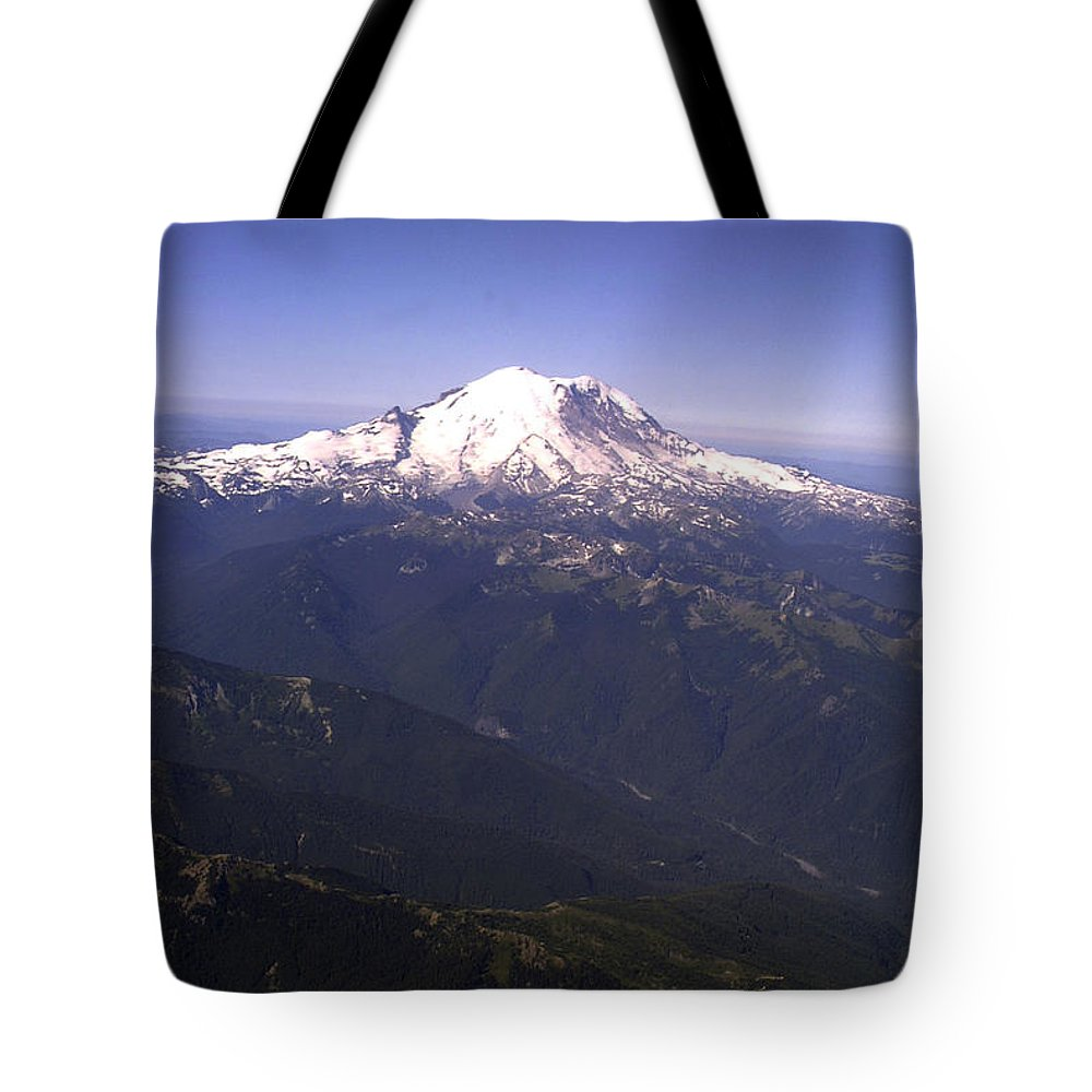 Mount Rainier Tote Bag featuring the photograph Mount Rainier Washington State by Merja Waters