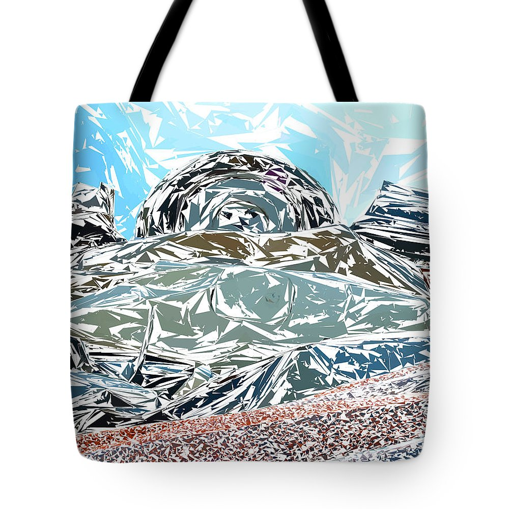 Auto Tote Bag featuring the photograph Mount Saint Auto Crush by Stan Magnan
