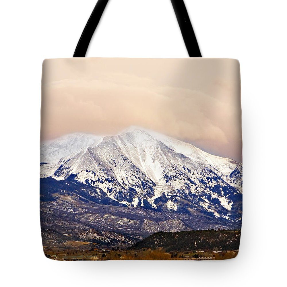 Americana Tote Bag featuring the photograph Mount Sopris by Marilyn Hunt