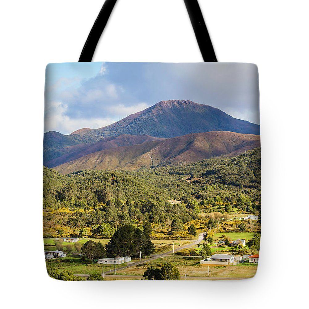 Countryside Tote Bag featuring the photograph Mount Zeehan Valley Town. West Tasmania Australia by Jorgo Photography - Wall Art Gallery