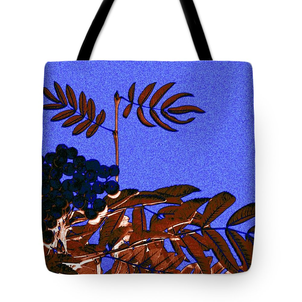 Abstract Tote Bag featuring the digital art Mountain Ash Design by Will Borden