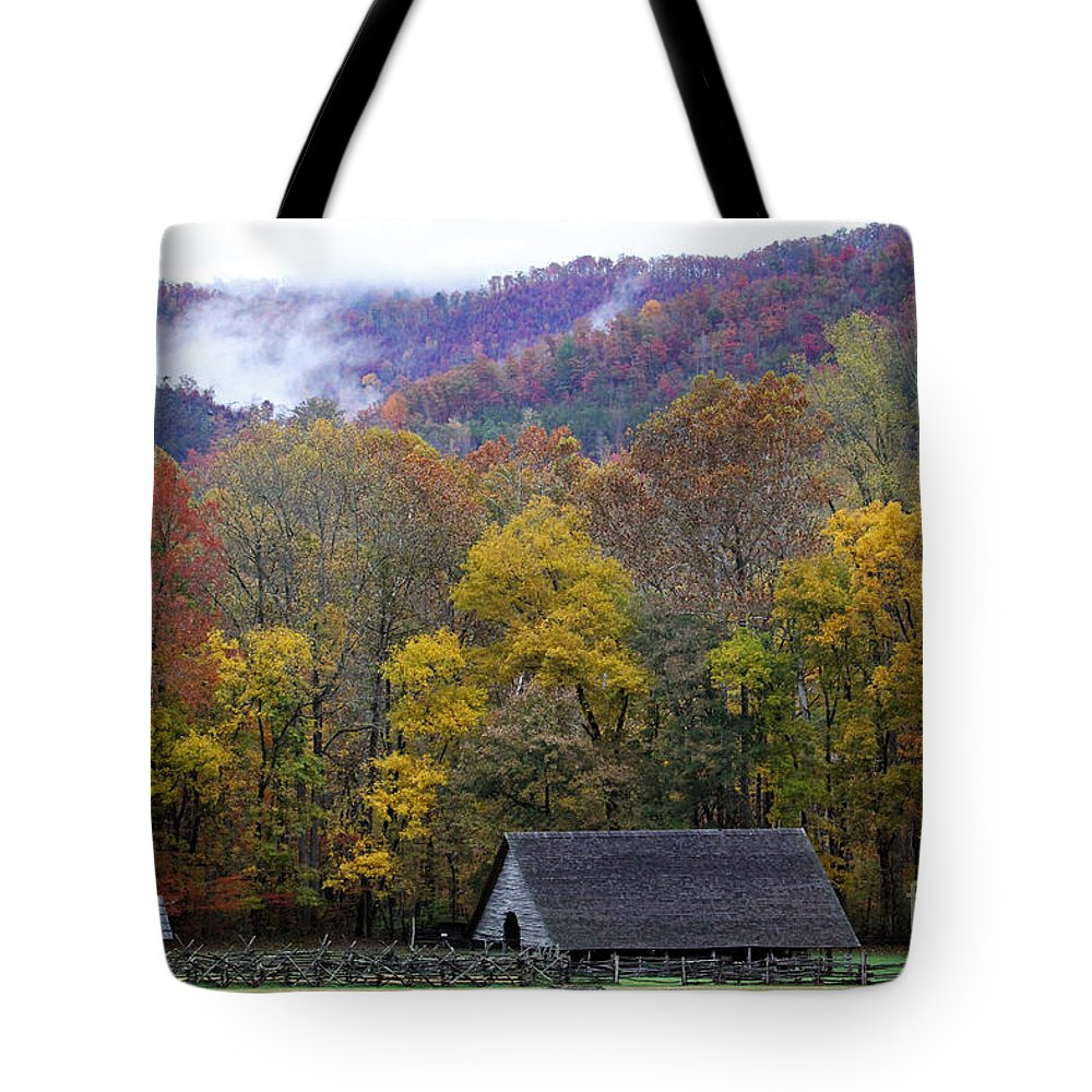 Autumn Tote Bag featuring the photograph Mountain Farm by Jennifer Robin