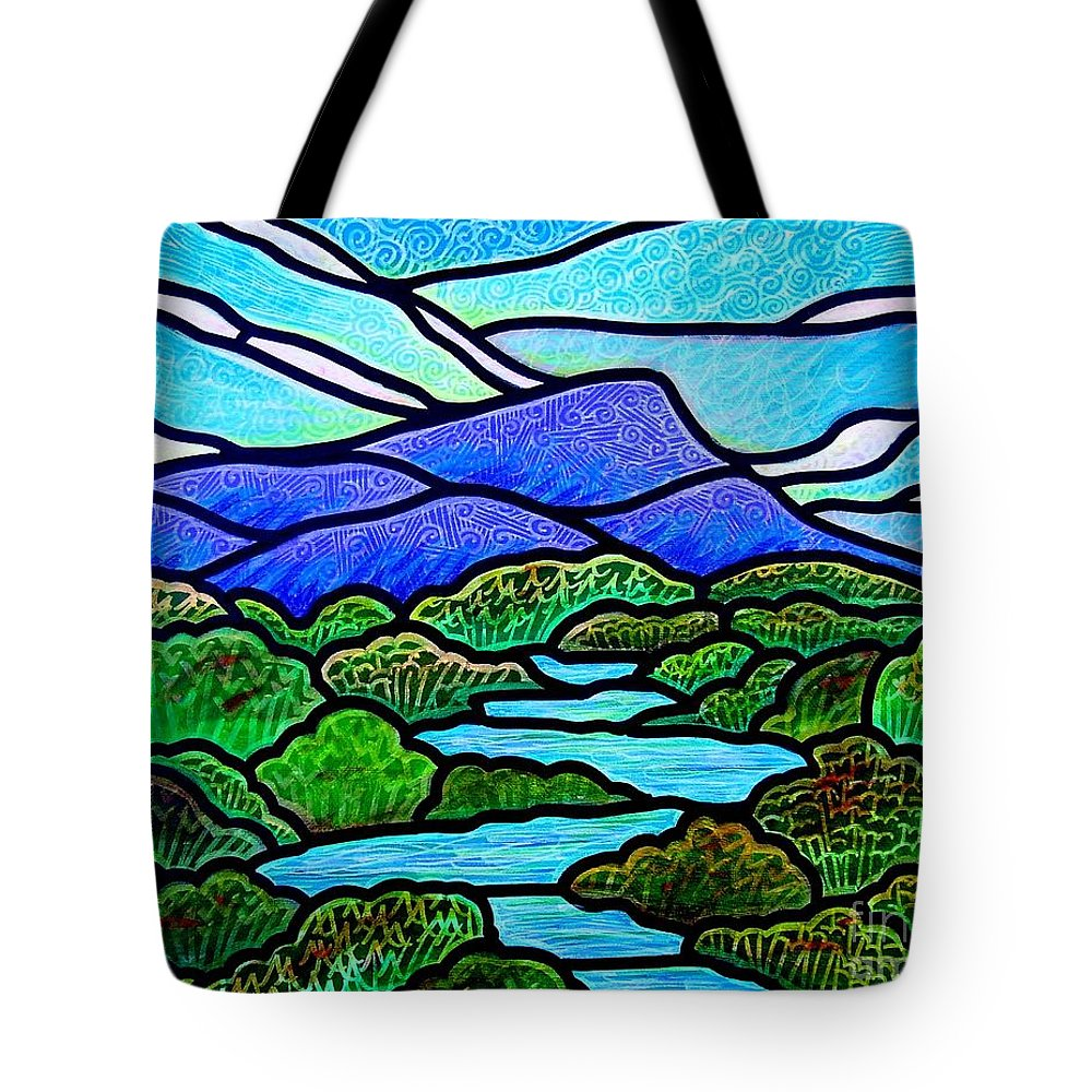 Paintings Tote Bag featuring the painting Mountain Glory by Jim Harris