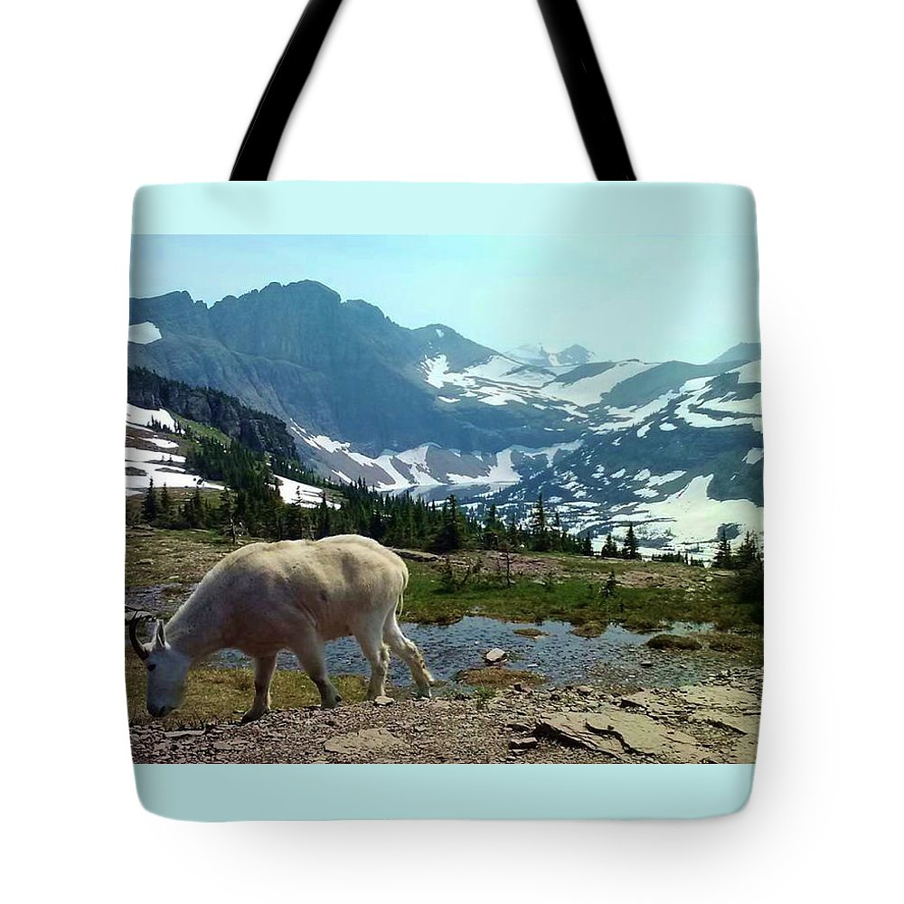 Mountains Tote Bag featuring the photograph Mountain Goat by Eric Fellegy