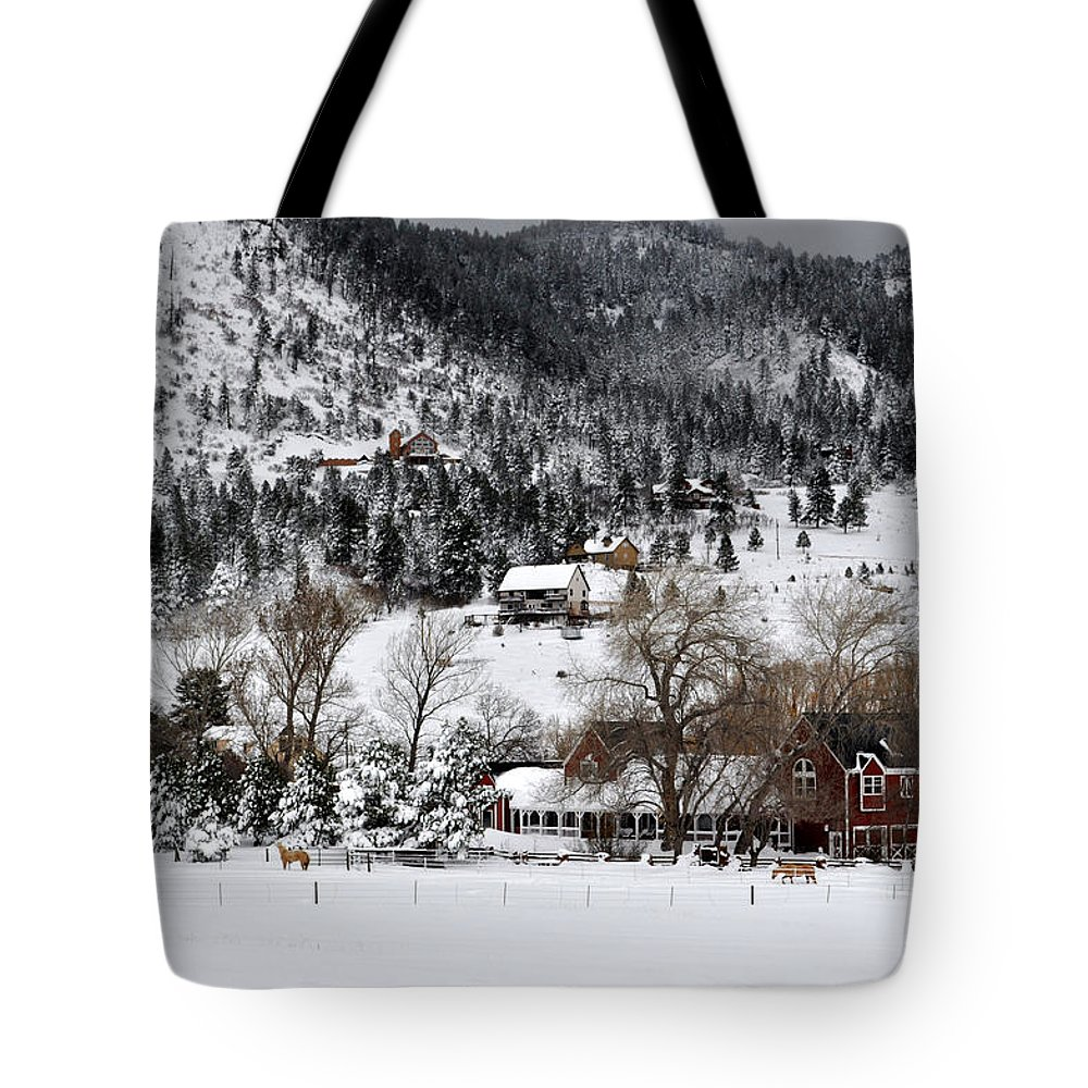 Horses Tote Bag featuring the photograph Mountain Home by Anjanette Douglas