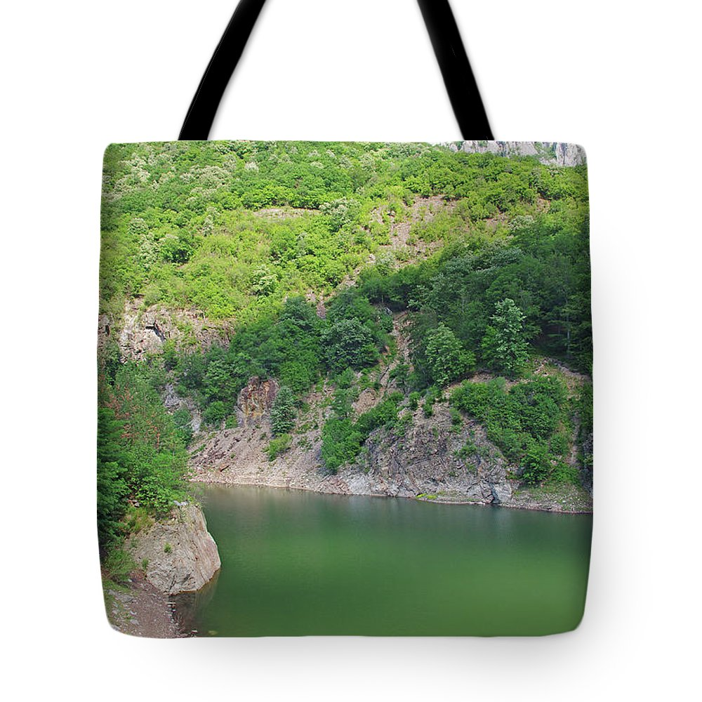 Landscape Tote Bag featuring the photograph Mountain Lake by Cosmin-Constantin Sava