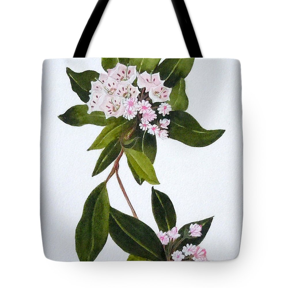 Mountain Laurel Tote Bag featuring the painting Mountain Laurel by Jean Blackmer