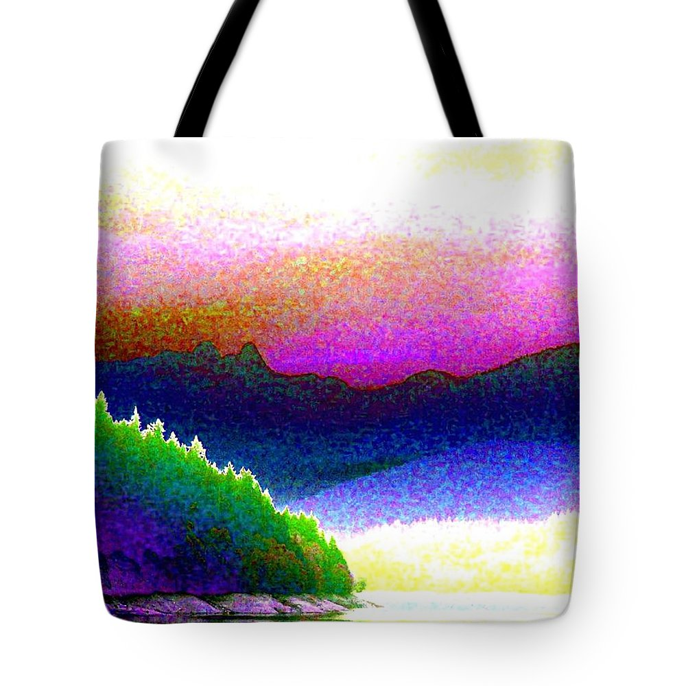 The Lions Tote Bag featuring the digital art Mountain Lions by Will Borden