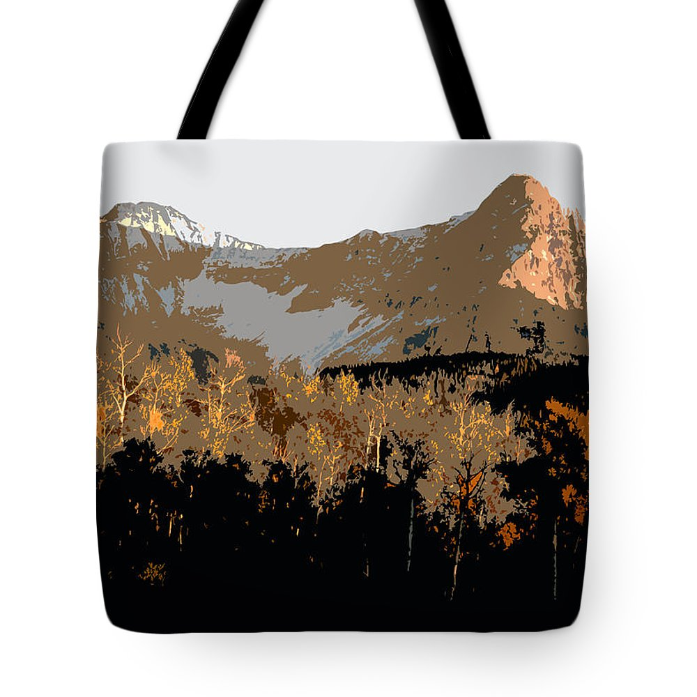 Mountains Tote Bag featuring the painting Mountain Majesty by David Lee Thompson
