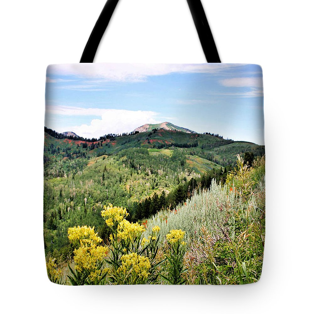 Mountain Tote Bag featuring the photograph Mountain Meadows by Kristin Elmquist