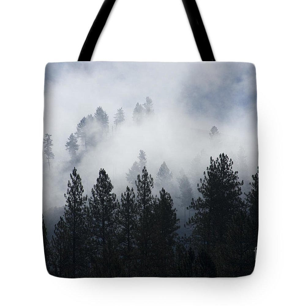 Fog Tote Bag featuring the photograph Mountain Mist by Idaho Scenic Images Linda Lantzy