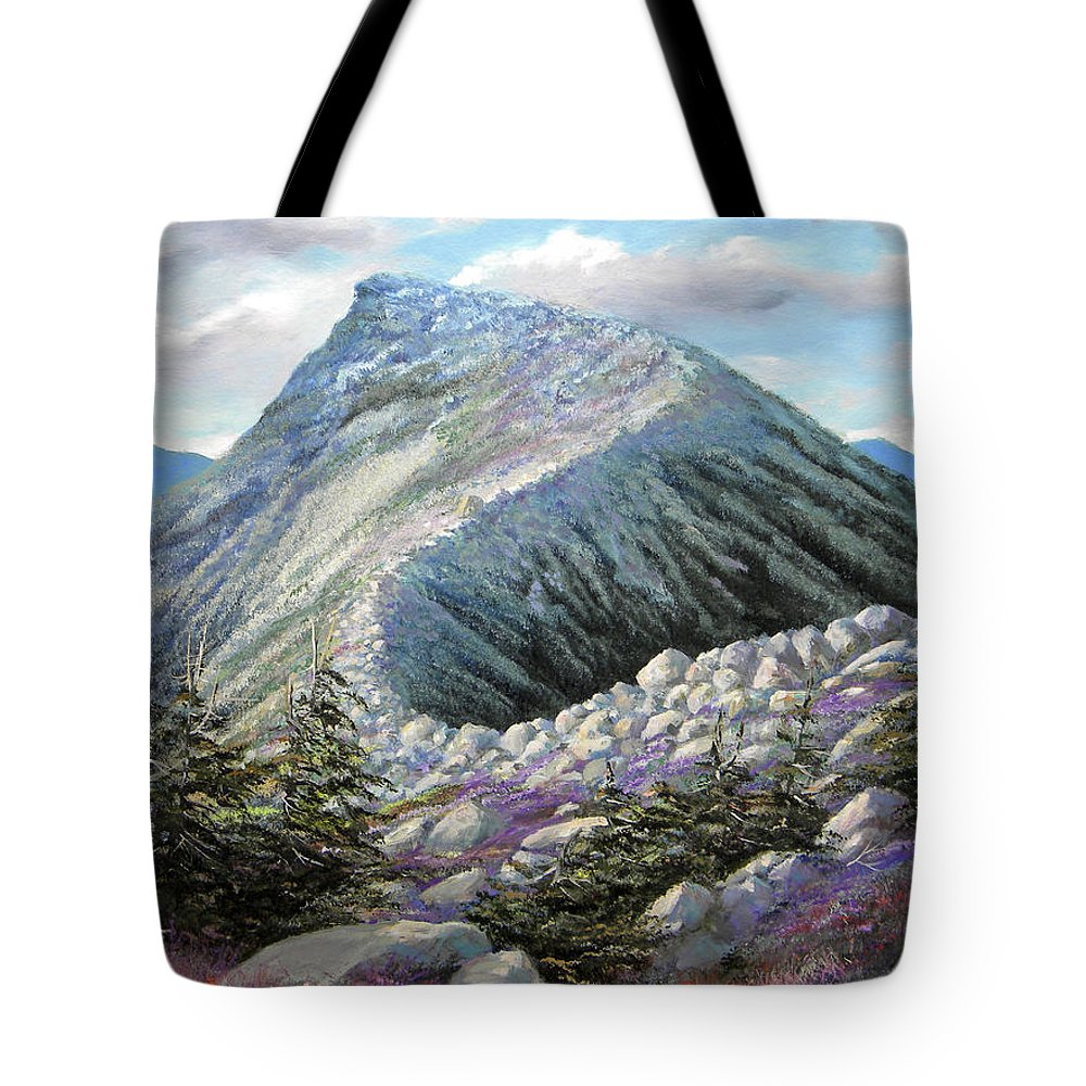 Landscape Tote Bag featuring the painting Mountain Ridge by Frank Wilson