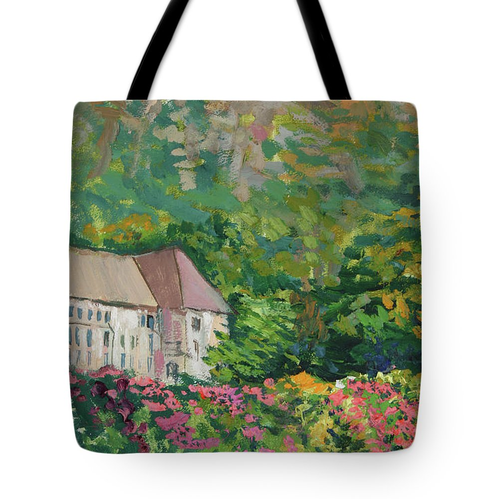 Norway Tote Bag featuring the painting Mountain Scenery In Dale, Sandnes by Andrei Belevich
