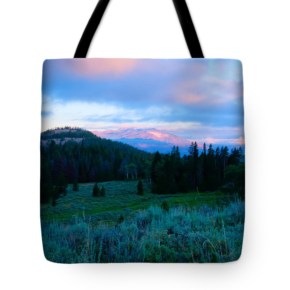 Beartooth Mountains Tote Bag featuring the photograph Mountain Sunrise by Idaho Scenic Images Linda Lantzy