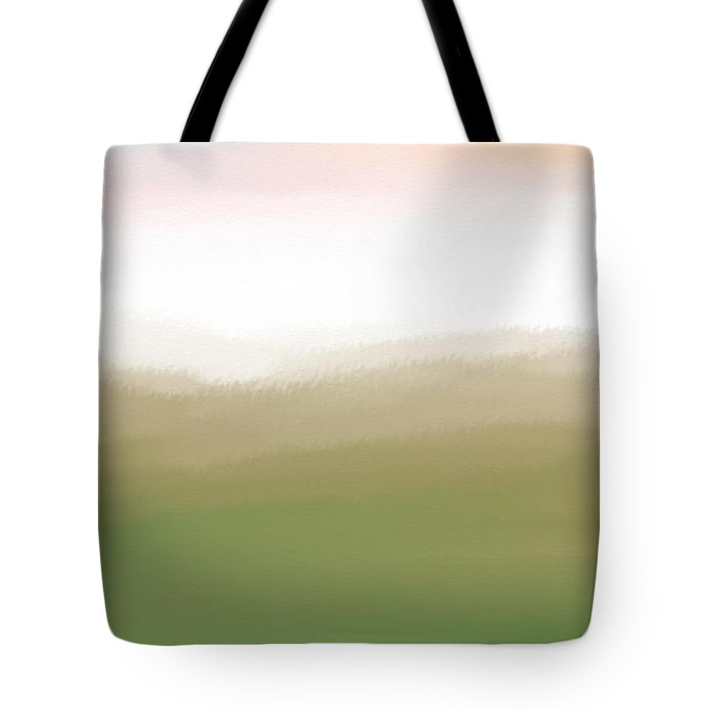 Mountain Tote Bag featuring the digital art Mountain Tops by Gina Lee Manley