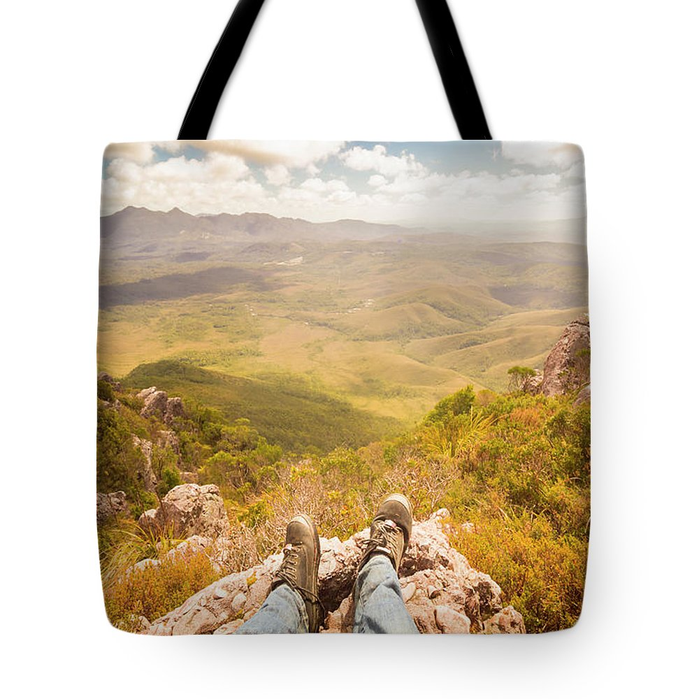 Australia Tote Bag featuring the photograph Mountain Valley Landscape by Jorgo Photography - Wall Art Gallery