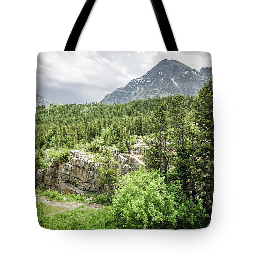 Glacier Tote Bag featuring the photograph Mountain Vistas by Margaret Pitcher