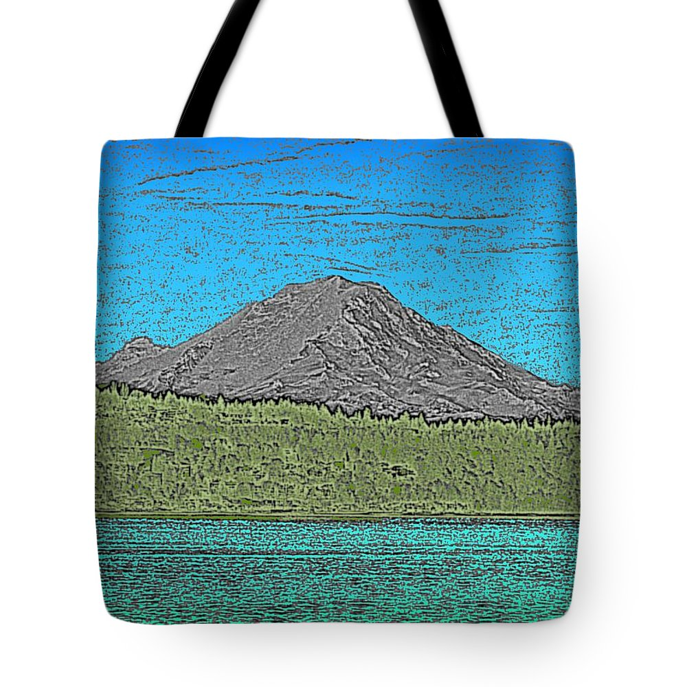 Mountain Tote Bag featuring the digital art Mountains Majesty by Tim Allen