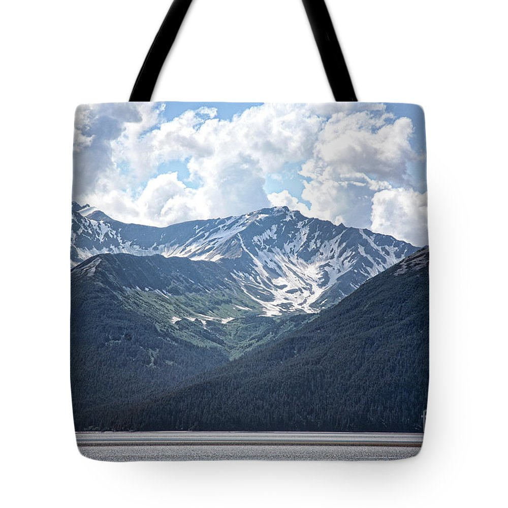 Alaska Tote Bag featuring the photograph Mountains Water Alaska by Chuck Kuhn