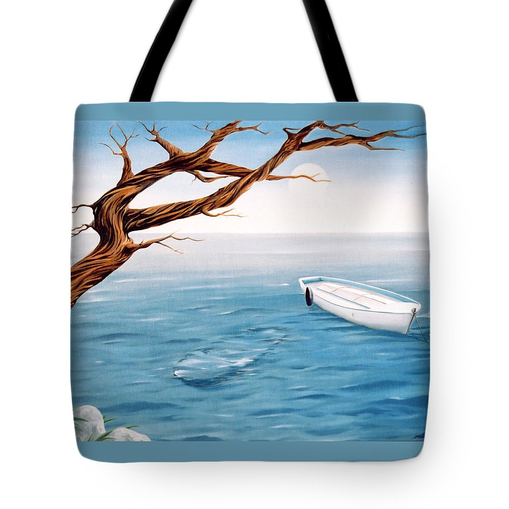 Seascape Prints Tote Bag featuring the painting Mourning Spring by Mark Cawood