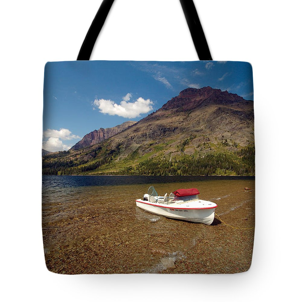 Moutains Tote Bag featuring the photograph Moutain Lake by Sebastian Musial