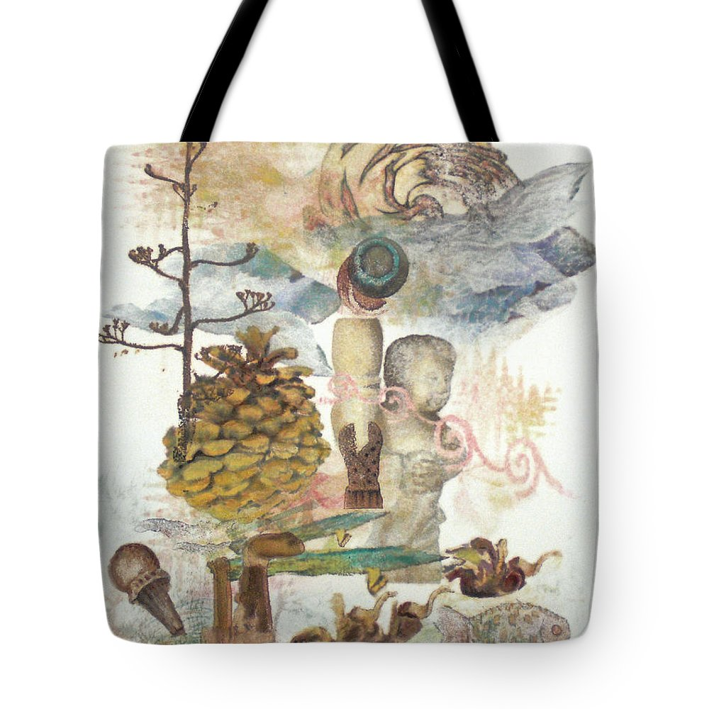 Abstract Tote Bag featuring the painting Move Along by Valerie Meotti