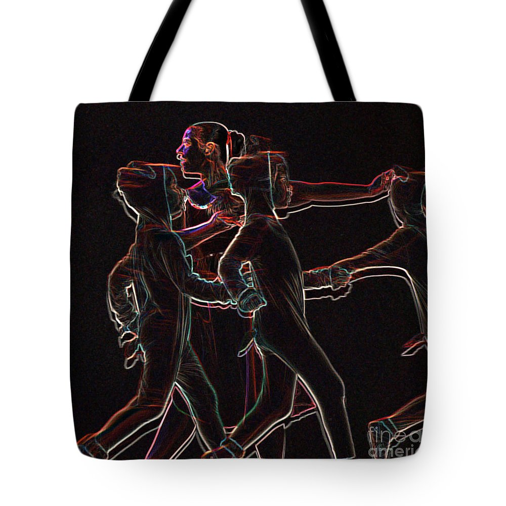 Ballet Tote Bag featuring the digital art Movement by Reb Frost