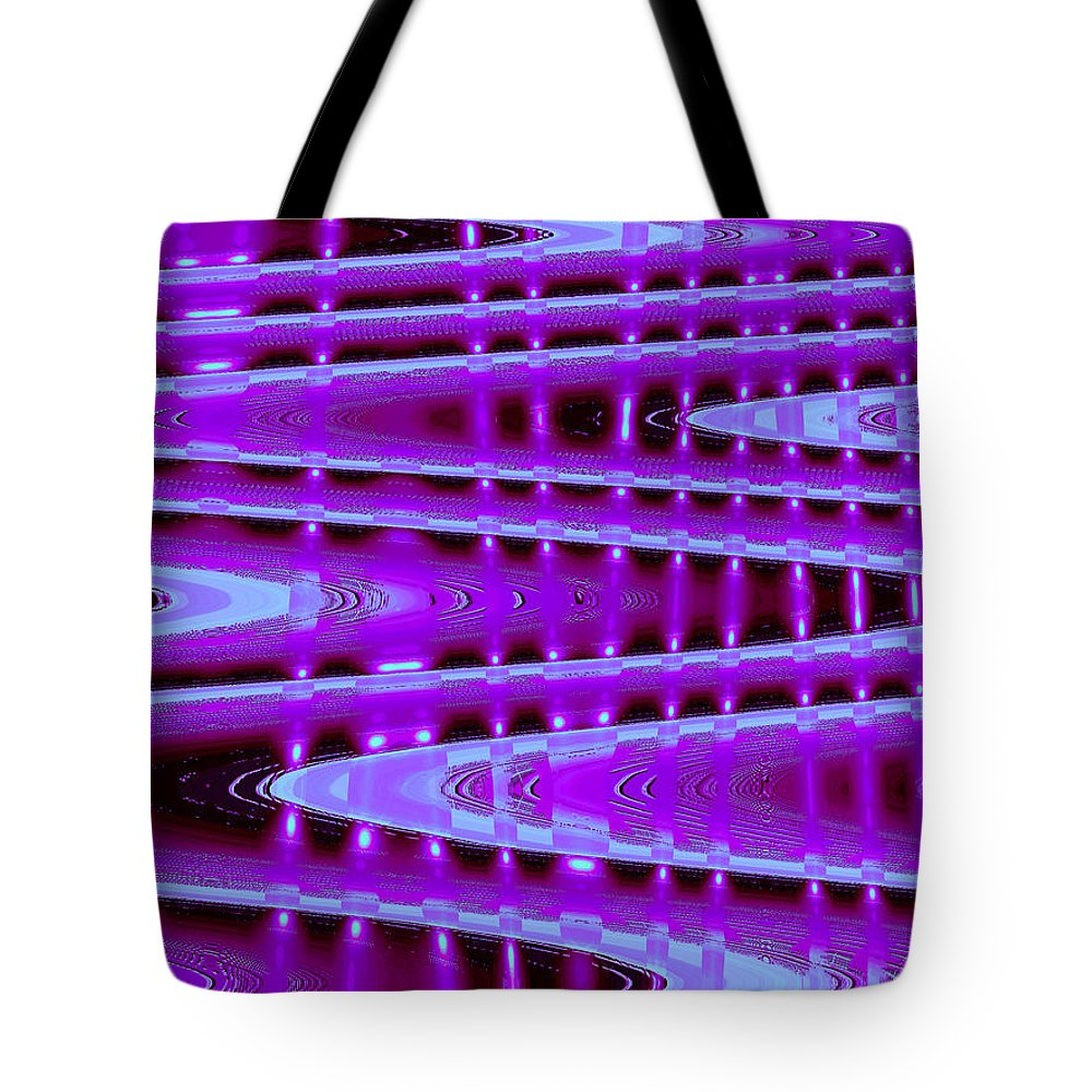 Moveonart! Digital Gallery Tote Bag featuring the digital art MoveOnArt Abstract Waves and Light Seven by Jacob Kanduch