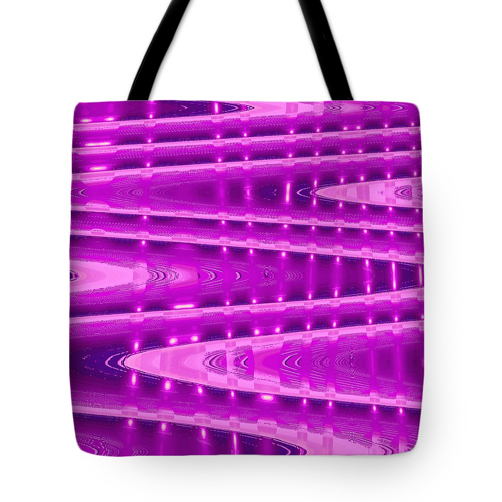 Moveonart! Digital Gallery Tote Bag featuring the digital art MoveOnArt Abstract Waves And Light Six by Jacob Kanduch