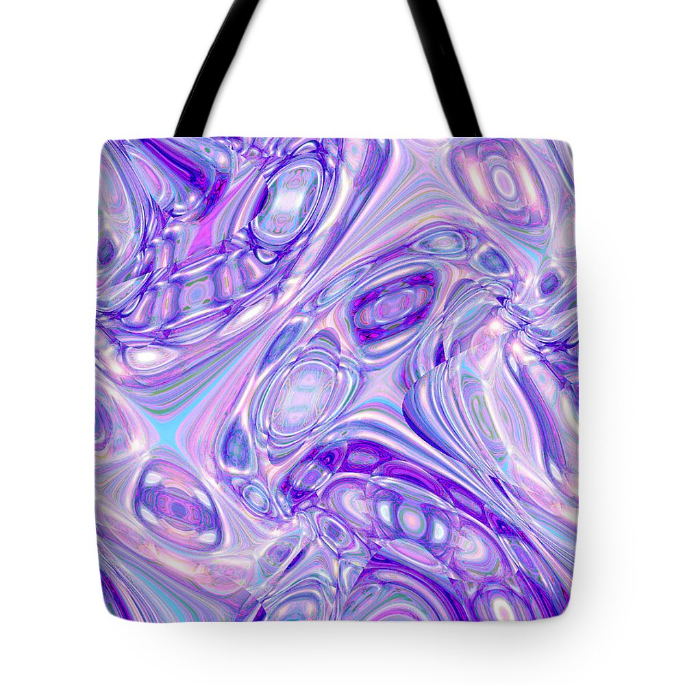 Moveonart Digital Gallery San Francisco California Lower Nob Hill Jacob Kane Kanduch Tote Bag featuring the digital art Moveonart Alien Bubble Art by Jacob Kanduch