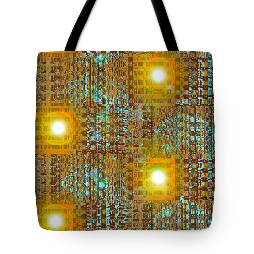 Moveonart! Digital Gallery Tote Bag featuring the digital art MoveOnArt Eye And Light Engagement Two by Jacob Kanduch