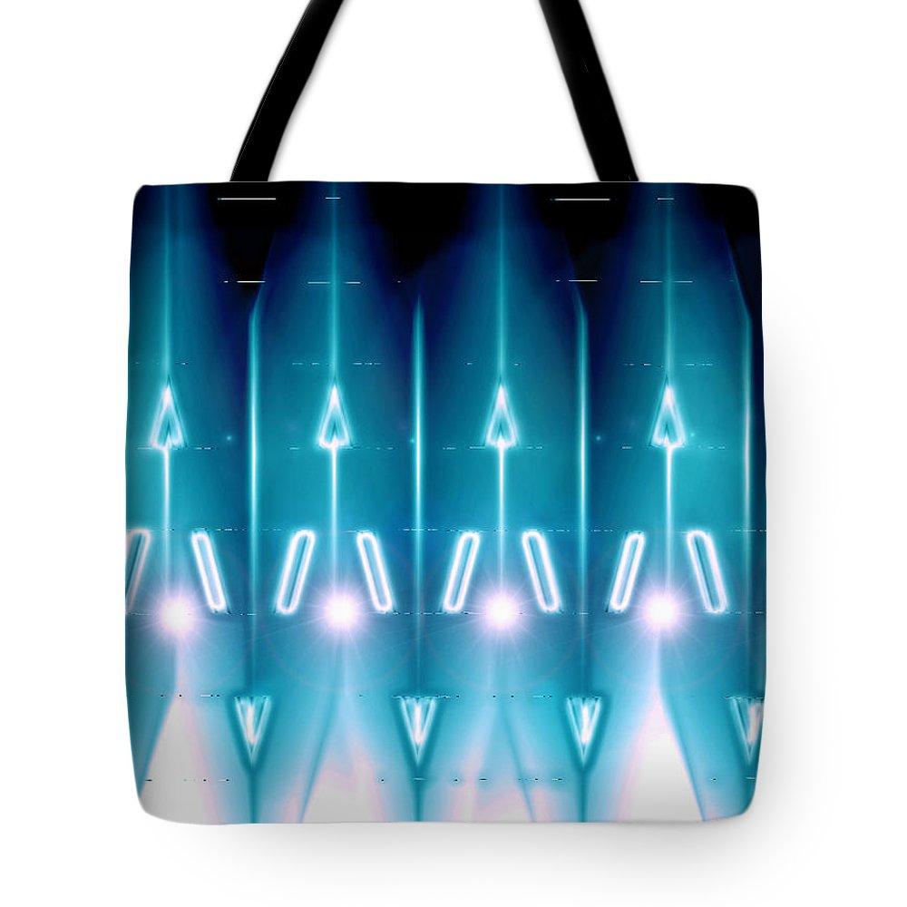 Moveonart! Digital Gallery Tote Bag featuring the digital art MoveOnArt Galactic Gaurdians by Jacob Kanduch