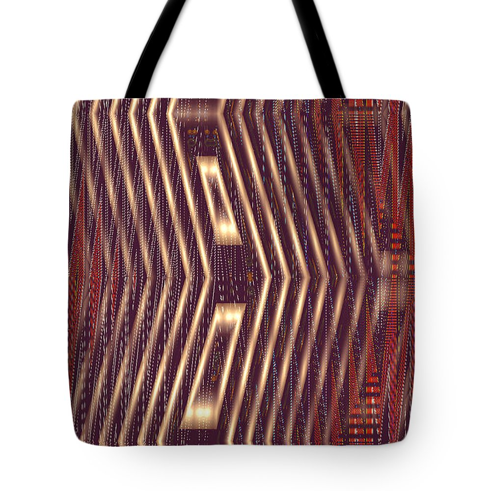 Moveonart! New York / San Francisco Digital Gallery Lower Nob Hill Jacob Kanduch Tote Bag featuring the digital art Moveonart Light For Alignment by Jacob Kanduch