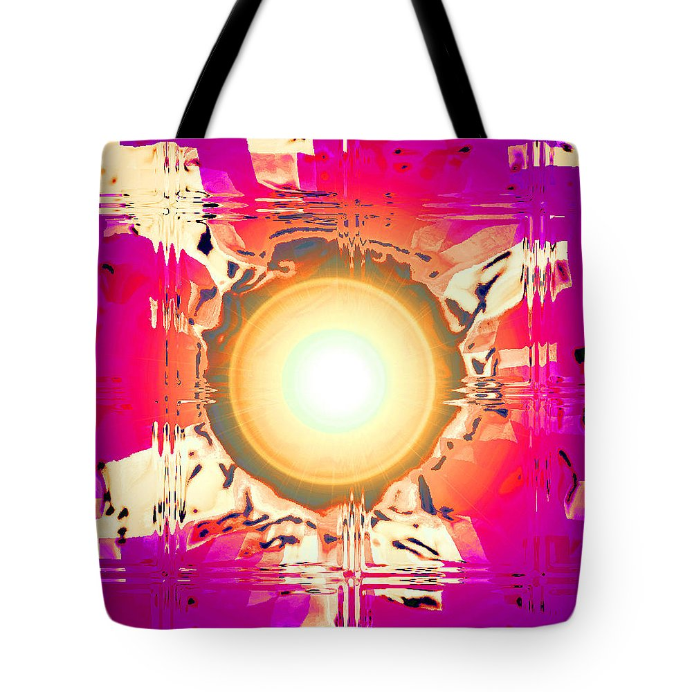 Moveonart! Digital Gallery Tote Bag featuring the digital art MoveOnArt May This Gift Of Light Help You Along Lifes Way by Jacob Kanduch